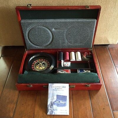 Excalibur  Portable Casino Set Great for Travel & Vacation.  Free shipping!