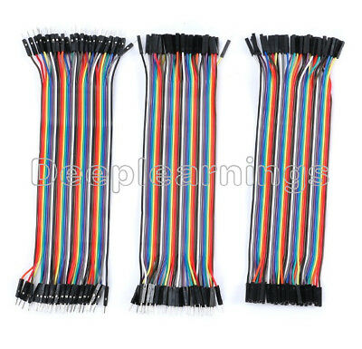 Each for 40pcs Dupont Wire Color Jumper Cable 20cm 2.54mm 1P-1P Female Male