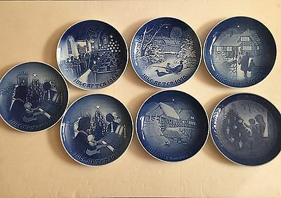 7 B&G & Royal Copenhagen Christmas Plates Lot 1968 - 1981 Mix One Double in July