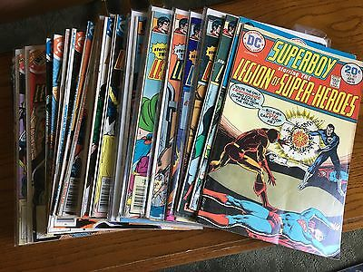 SUPERBOY AND THE LEGION OF SUPER-HEROES 33 Comic Lot! btwn 201-255 f-vf
