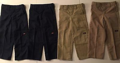 Boy School Uniform Pants, Lot Of 4, Size 5, Dickies Brand, Adjustable Waist