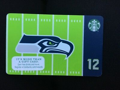 NEW Starbucks SEATTLE SEAHAWKS Gift Card 2016 No Balance LIMITED EDITION