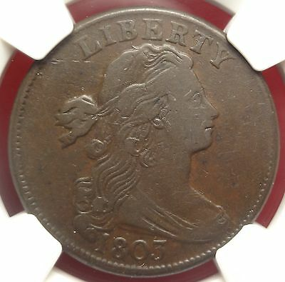 NGC VF30 1803 Draped Bust Large Cent S-260 Variety Early 1c Type Coin ~ Choice
