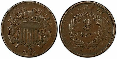 FS-1401 / 1902 Obverse & Reverse Denticle Clash 1864 Two Cent Piece PCGS XF40