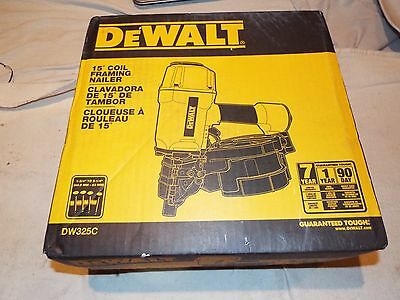 DEWALT NEW Pneumatic 15° Coil Framing Nailer DW325C NEW IN BOX
