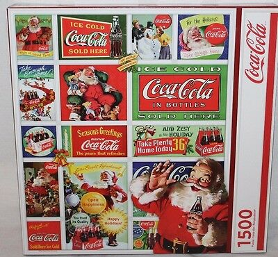 Santa Coca Cola Christmas Jigsaw Puzzle 1500 Pieces Springbok Holiday LARGE Rare