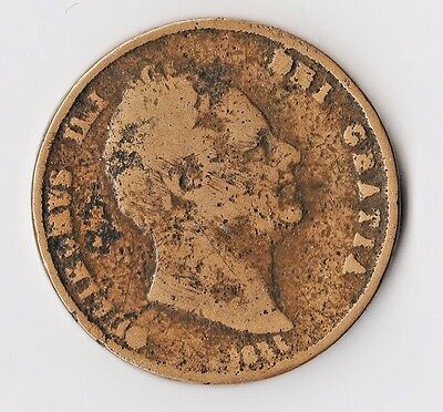 1831 Contemporary William IV (IIII) Cast Penny Possibly for Irish/ Canada Export