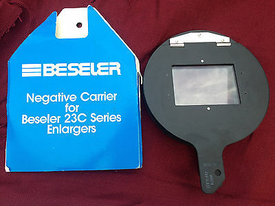 BESELER ~ Universal Glass Negative Carrier #8074 ~ Up To 6x9 ~ 23C Series ~NEW~