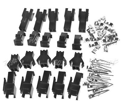 JST SM Terminal Connector 2/4-Pin Plug 10 Pairs (Male+ Female) 2.5mm Pitch