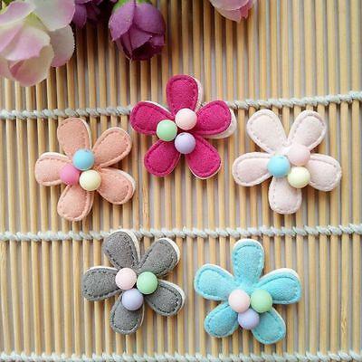 10pcs/lot Dog Hairpin Pet flower beads Tie Hair Clips Puppy cat Bowknot barrette
