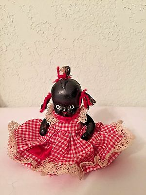 """4"""" Black Baby Doll Made In Japan"""