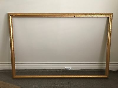 Large Vintage Wooden Timber Moulding Gold Picture Frame