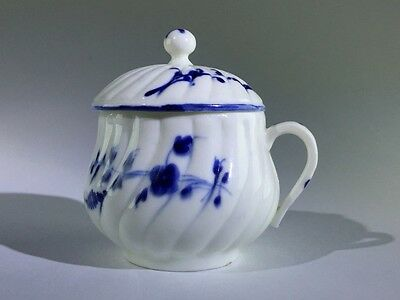 Chantilly spiralled Pot a Jus with cover decorated in blue with Chantilly Sprig
