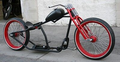 2017 Custom Built Motorcycles Bobber  MMW SCHWINN STYLE  23,23 BOARDTRACK RACER WITH WIRE WHEELS AND HOOP SPRINGER