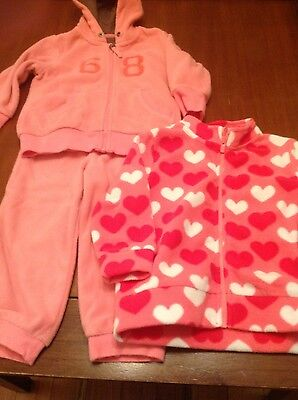 esprit baby / toddler girls tracksuit and jacket winter fleece size 1