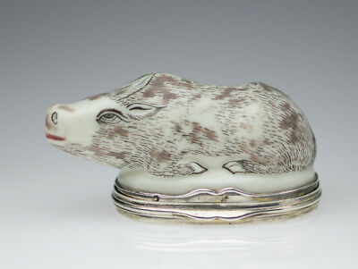 Saint Cloud snuffbox in the form of a water buffalo, c.1740