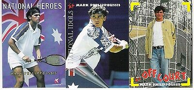 3 X Mark Philippoussis Tennis Cards From Intrepid