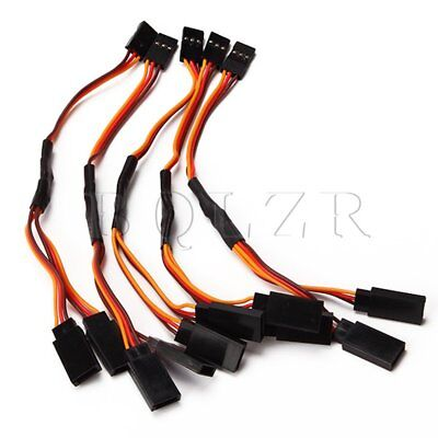 Y servo extension cord lead Wire Cable Set of 5 Black