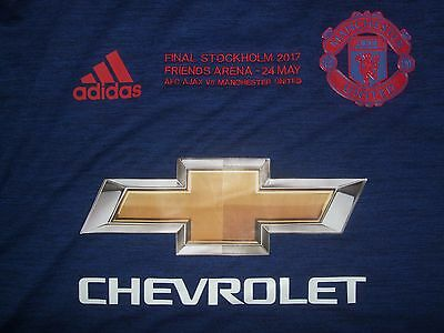 Manchester United Match Issue Shirt Pogba Europa Cup Final 2017 V Ajax France