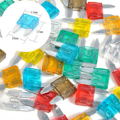 MIXED 35 Piece/a Set Mini Blade Fuse AUTO Car 5 7.5 10 15 20 25 30 AMP New BV23