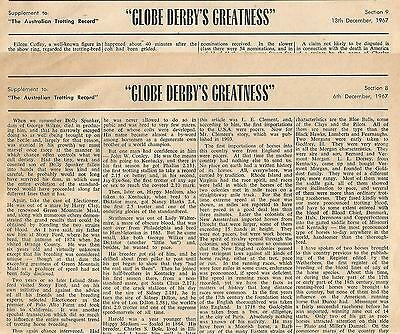 GLOBE DERBY'S GREATNESS (Trotting Record)