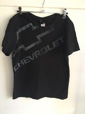 Kids Size 12 Chevrolet Black T-Shirt