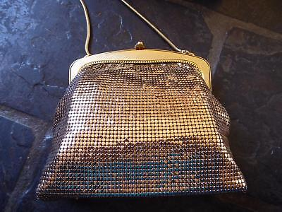 Vintage 1970s Gold Glomesh Bag Boxed  - AS NEW with Original Receipts, Mirror