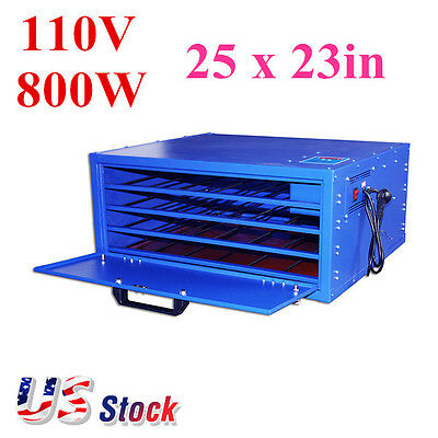 US-4 Layers Screen Printing Drying Cabinet Max Exposure 25x23in Warming Machine