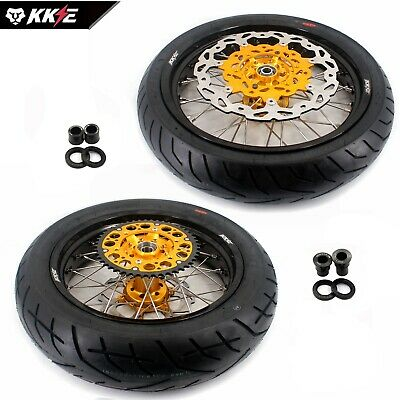 4.25*17 Supermoto Motard Wheels Rim Set & Tire Fit Suzuki Drz400 Drz400S Dzr400E