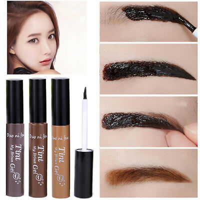 3 Colors Peel-off Eyebrow Tattoo Tint My Brow Gel Waterproof Long lasting Makeup