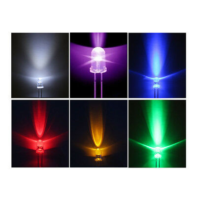 New 5mm 6 Colors Warm Round Top Emitting Diode Diffused/Water Clear LED light