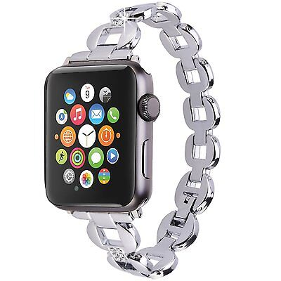 Apple Watch 38mm Silver Replacement Band Strap Stainless Steel Metal Bracelet