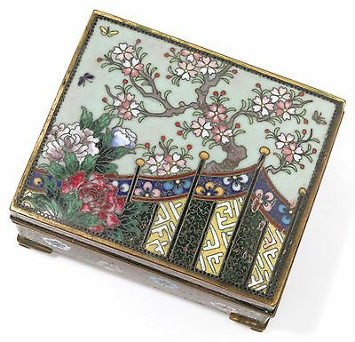 Antique Japanese Meiji Period Inaba Cloisonné Box - 1900