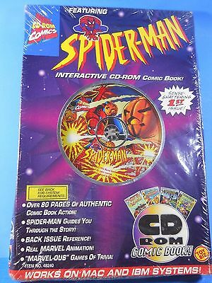 Rare-1995 Toy Biz-Spider Man-Interactive Cd-Rom Comic Book-1St Issue-Unopened