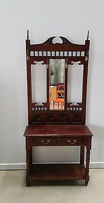 Victorian / Edwardian Hall Stand - Coat / Hat / Umbrella hall table VGC