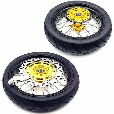 4.25*17 Tire Tyre Suzuki Rmz Supermoto Motard Wheels Rim Set Rmz250 450 05-17