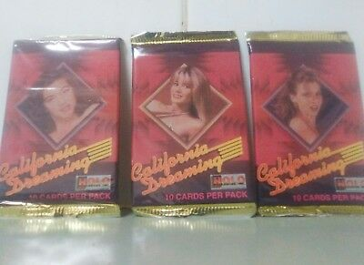 3 x CALIFORNIA DREAMING CARD PACKS HOLO PLEASURE INC.1992 CONTAINS NUDITY (10PP)