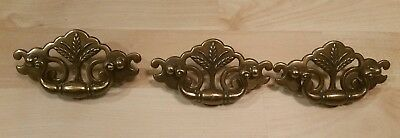 "Set of 3 Vintage 4.5"" KBC Keeler Brass Co Drawer Pulls Handles N18793"