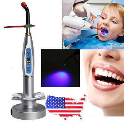 10W LED Dental Wireless Cordless Curing Light Lamp 2000mw Care Tooth US/EU Plug