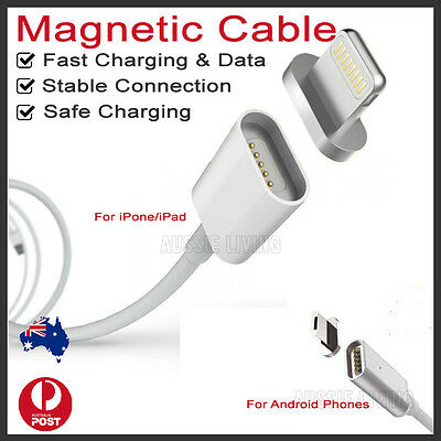 USB Magnetic Charging Data Sync Cable Charger for iPhone Android Samsung OZ