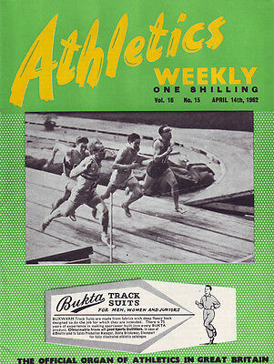 Athletics Weekly  April 14th 1962  Volume 16 No 15