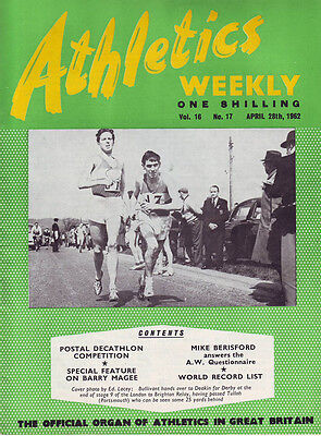Athletics Weekly  April 28th  1962  Volume 16 No 17