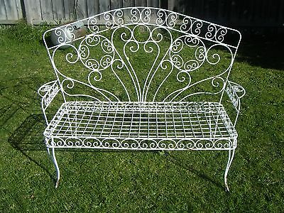 Vintage ornate outdoor metal chair seat powder coated white pickup in Noble Park