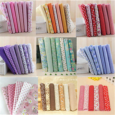 7pcs 25x25cm 50x50cm Assorted PreCut Quarter Bundle Charm Cotton Quilt Fabric