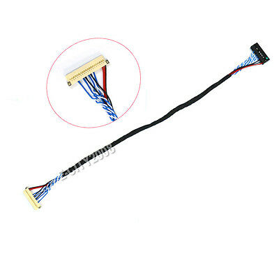 DF19-20P-D6 LVDS Cable Revised XJ 20PIN 1CH 6BIT 1.0mm Pitch for LCD Screen 25CM