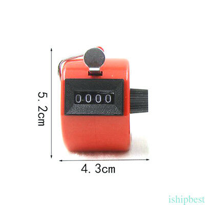Handy Digital Handheld Tally Clicker Counter 4 Digit Number Clicker Golf Acc.