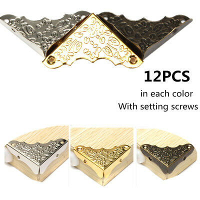 12x Jewelry Chest Wine Wood Box Picture Frame Decor Corner Protector Guard 37mm
