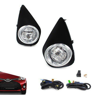For 2015-2016 Toyota Yaris Hatchback 2/4Dr Clear Fog Lights Driving Lamps+Switch