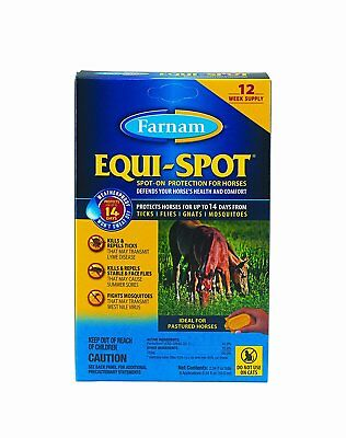 Farnam Equi-Spot Spot On Protection for Horses, 12-Week Supply with 6