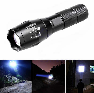 10000Lumens 5 Modes Zoomable Tactical Military LED 18650 Flashlight Torch Lamp